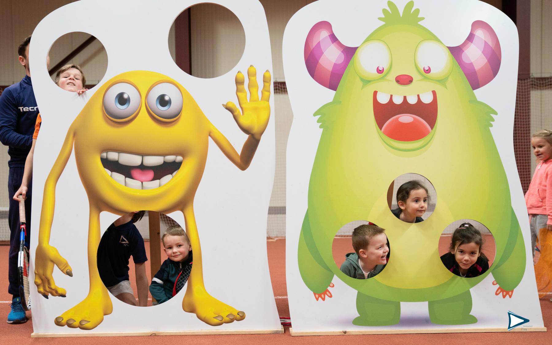 kinderen bij Bollie & Ballie tenniskamp